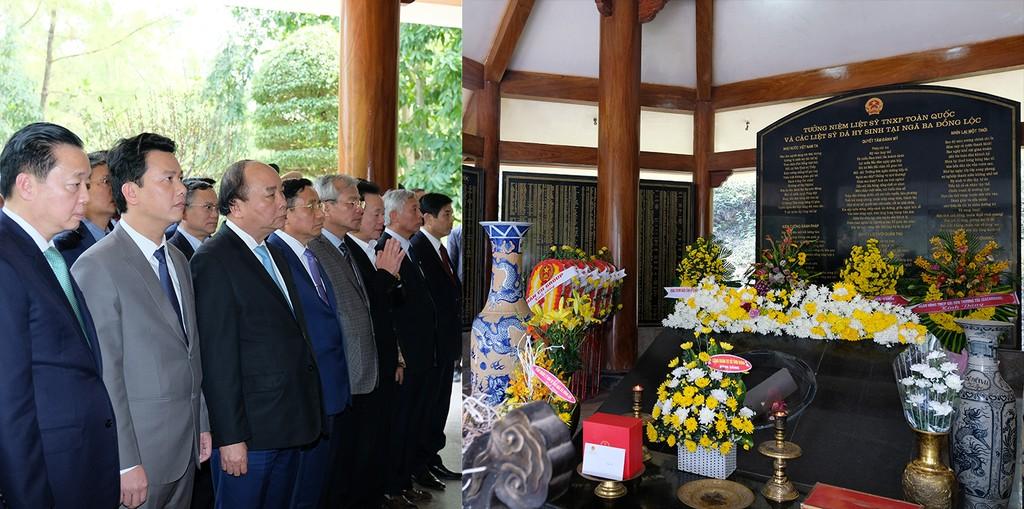 Thủ tướng Nguyễn Xuân Phúc dâng hương tại Khu di tích Kim Liên - ảnh 3