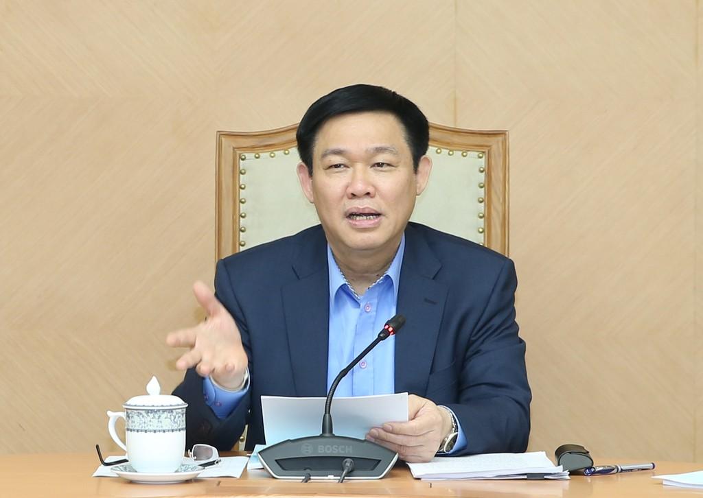 Phó Thủ tướng Vương Đình Huệ phát biểu tại buổi làm việc - Ảnh: VGP