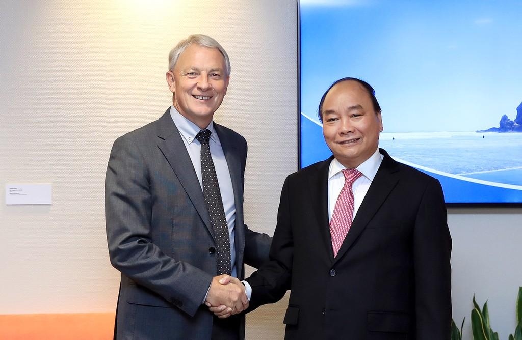 Thủ tướng Nguyễn Xuân Phúc và Thị trưởng thành phố Auckland Phil Goff. Ảnh: VGP