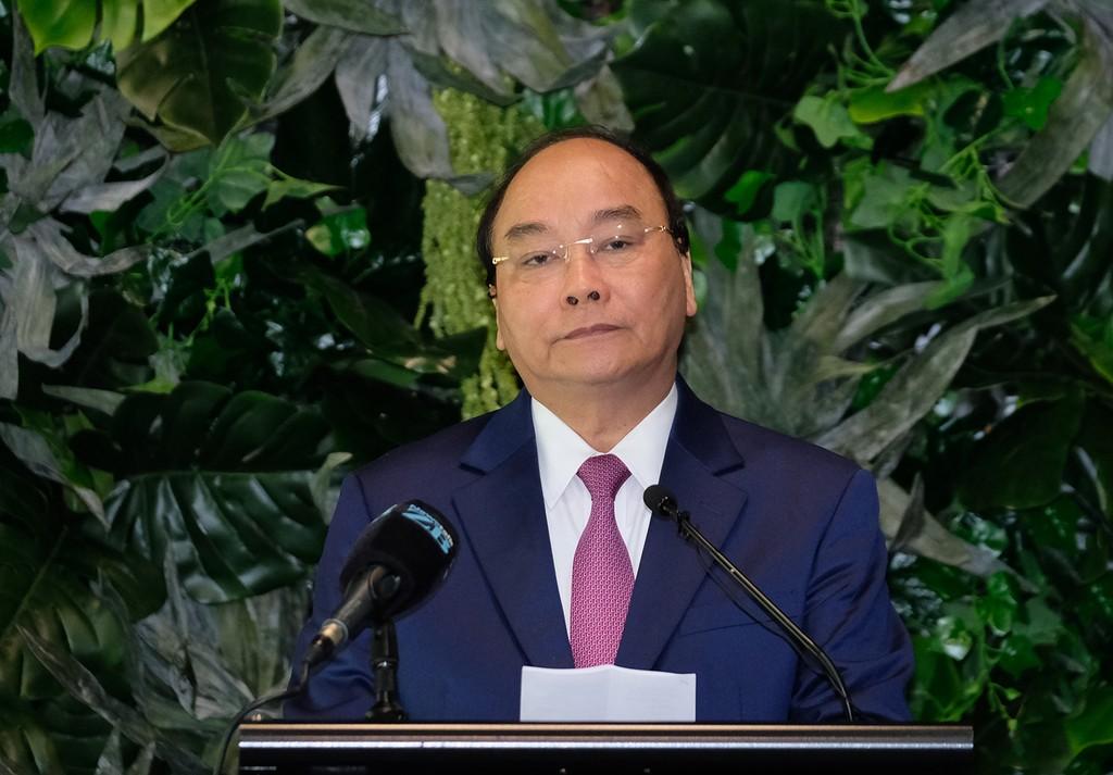 Thủ tướng Nguyễn Xuân Phúc tin tưởng rằng với nỗ lực và quyết tâm của lãnh đạo và nhân dân hai nước, hai bên sẽ sớm đạt được mục tiêu to lớn này, đúng như tinh thần câu ngạn ngữ của người Maori. Ảnh: VGP