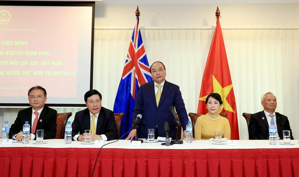 Thủ tướng gặp gỡ kiều bào tại Australia - ảnh 1