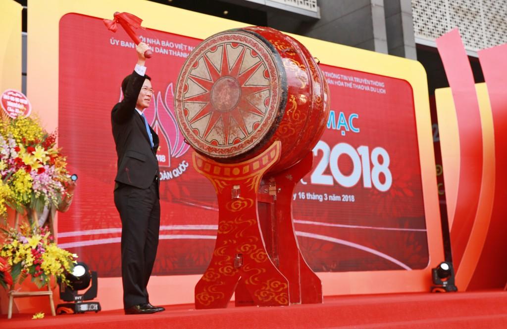 Hội báo xuân năm 2018: Tôn vinh sự đổi mới, phát triển mạnh mẽ của báo chí Việt Nam - ảnh 1