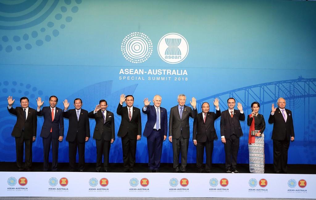 Trưởng đoàn các nước dự Hội nghị Cấp cao đặc biệt ASEAN-Australia.
