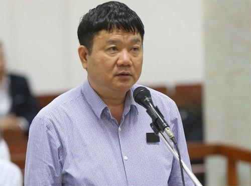 Ông Đinh La Thăng tại phiên tòa ngày 19/3. Ảnh: TTXVN