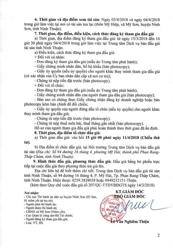Đấu giá quyền sử dụng đất tại huyện Ninh Sơn, Ninh Thuận - ảnh 2