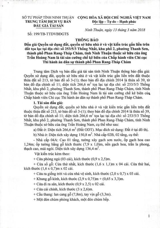 Đấu giá quyền sử dụng đất, quyền sở hữu nhà tại TP.Phan Rang-Tháp Chàm, Ninh Thuận - ảnh 1