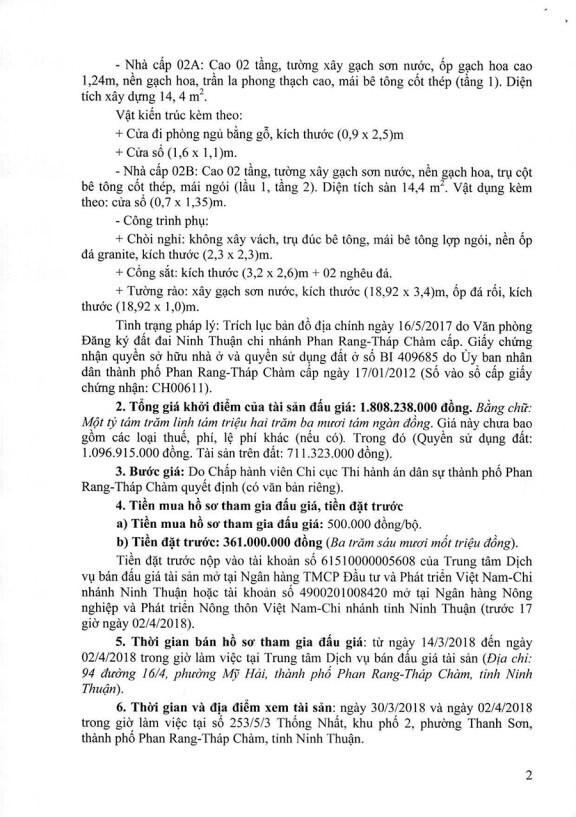 Đấu giá quyền sử dụng đất, quyền sở hữu nhà tại TP.Phan Rang-Tháp Chàm, Ninh Thuận - ảnh 2