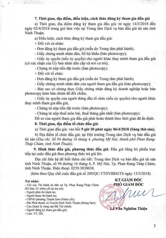 Đấu giá quyền sử dụng đất, quyền sở hữu nhà tại TP.Phan Rang-Tháp Chàm, Ninh Thuận - ảnh 3