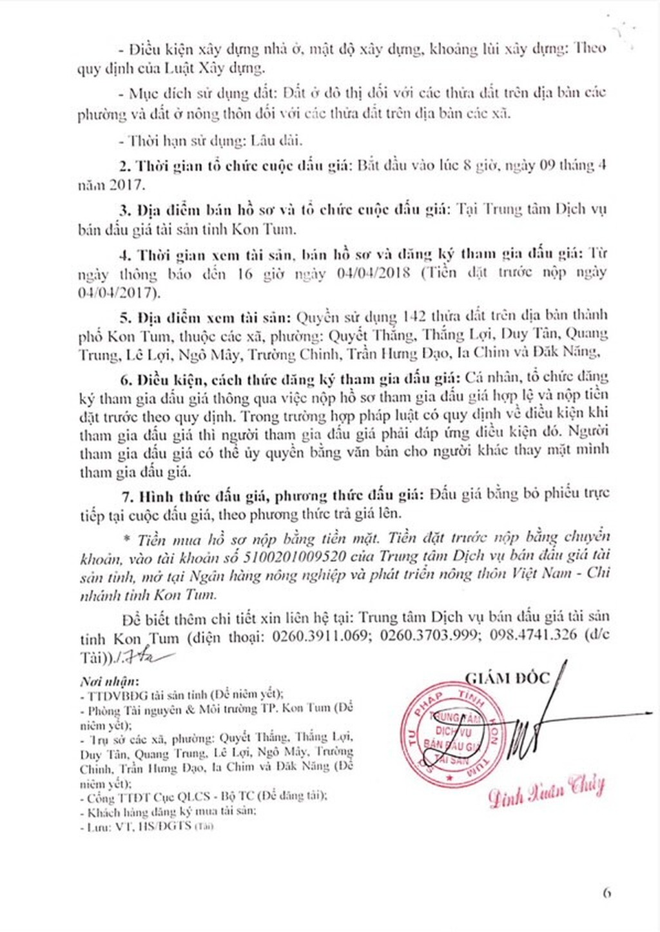 Đấu giá quyền sử dụng đất tại TP.Kon Tum, Kon Tum - ảnh 6