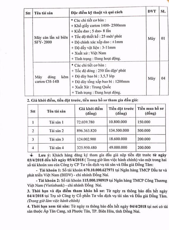 Đấu giá xe ô tô và máy móc thiết bị tại Đồng Nai - ảnh 6