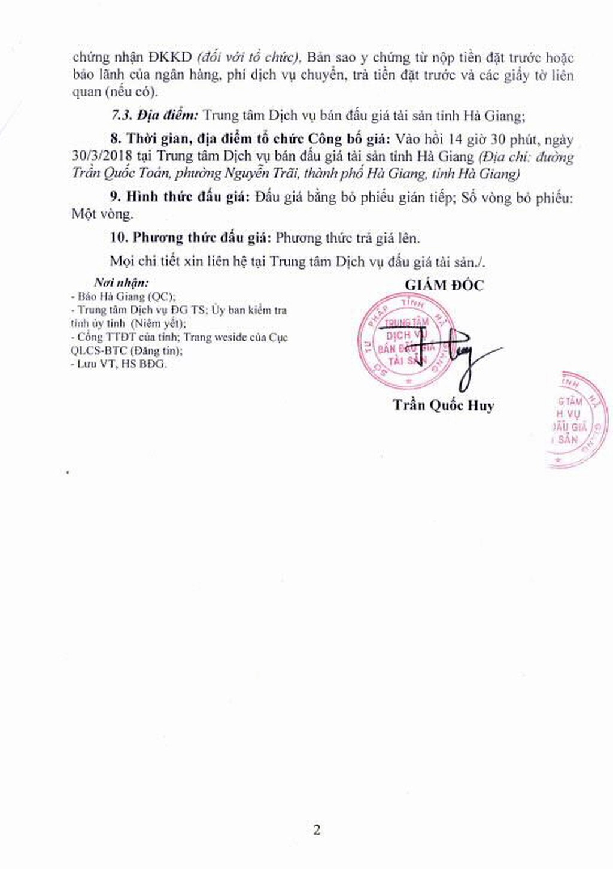 Đấu giá xe ô tô tại Hà Giang - ảnh 2