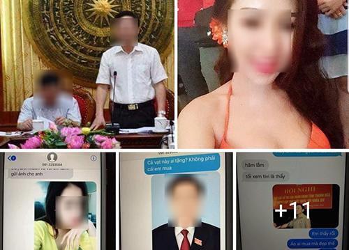 Tài khoản mạng xã hội đăng ảnh cá nhân và tin nhắn kèm nội dung nhạy cảm về một lãnh đạo tỉnh. Ảnh chụp màn hình.