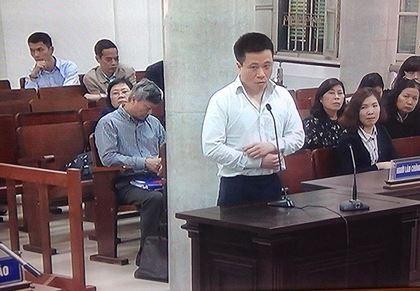 Ông Hà Văn Thắm tại phiên tòa xử ông Đinh La Thăng sáng 20/3/2018.
