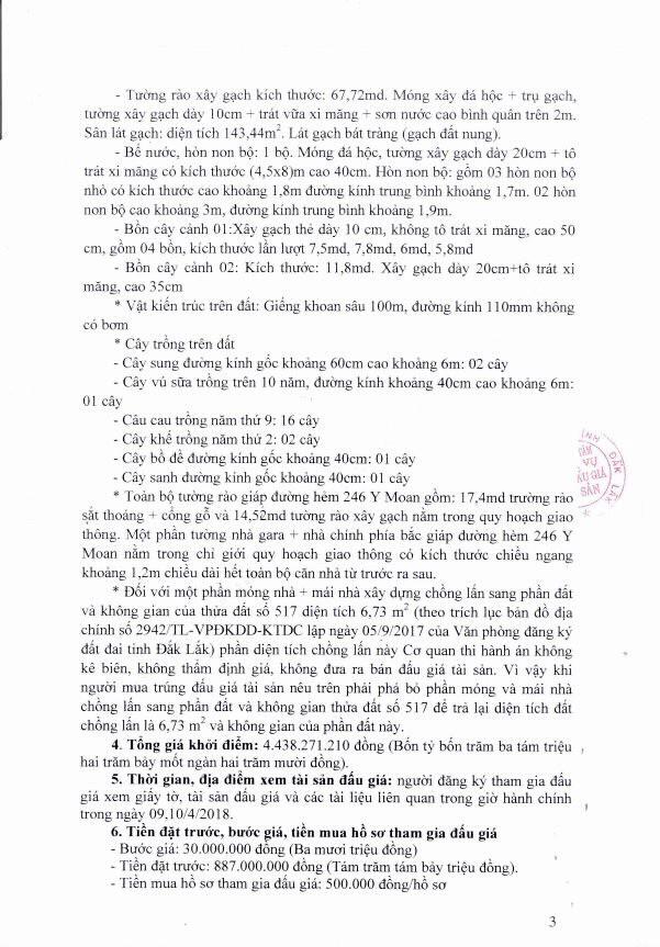 Đấu giá quyền sử dụng đất và TSGLVĐ tại TP.Buôn Ma Thuột, Đắk Lắk - ảnh 3