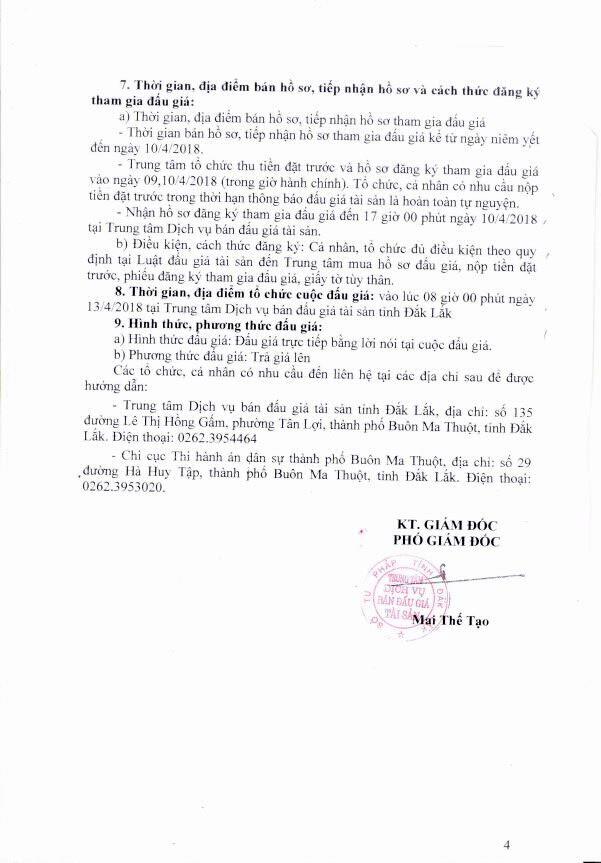 Đấu giá quyền sử dụng đất và TSGLVĐ tại TP.Buôn Ma Thuột, Đắk Lắk - ảnh 4