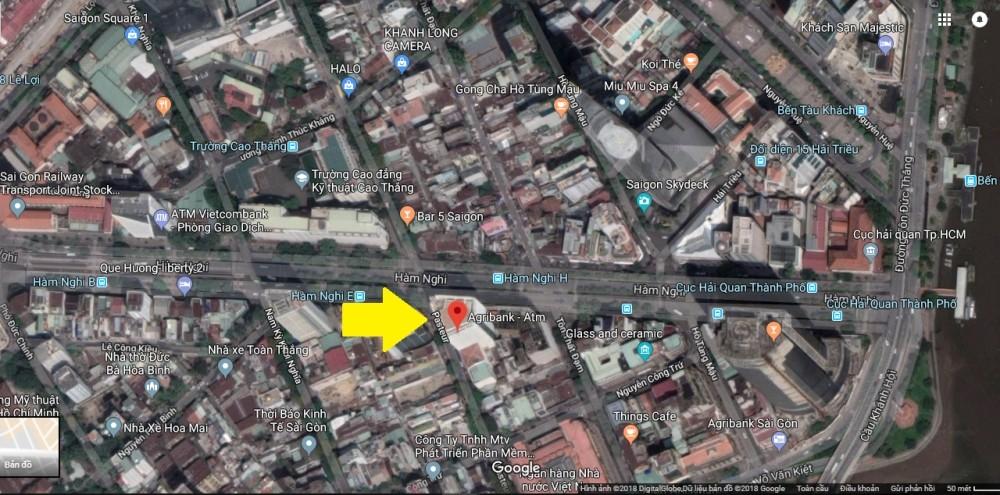 """Vị trí lô đất """"vàng"""" được Agribank AMC đấu giá. (Ảnh: Google map)"""