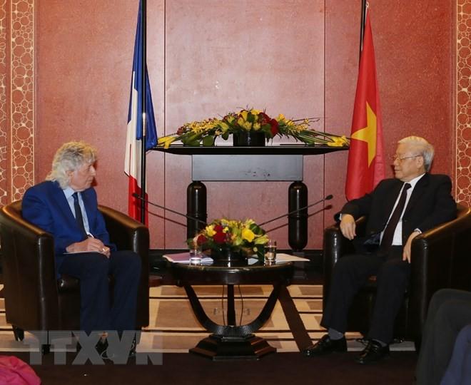 Hoạt động của Tổng Bí thư tại Paris, Pháp, ngày 27/3 - ảnh 1