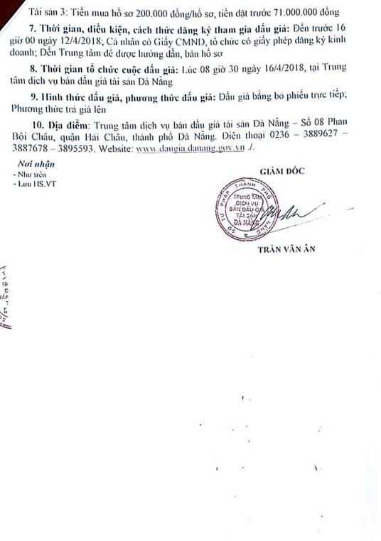 Đấu giá quyền sử dụng đất tại huyện Hòa Vang, Đà Nẵng - ảnh 2