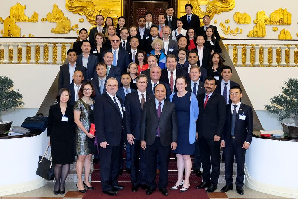 Thủ tướng gặp gỡ Hội đồng kinh doanh Hoa Kỳ-ASEAN - ảnh 1