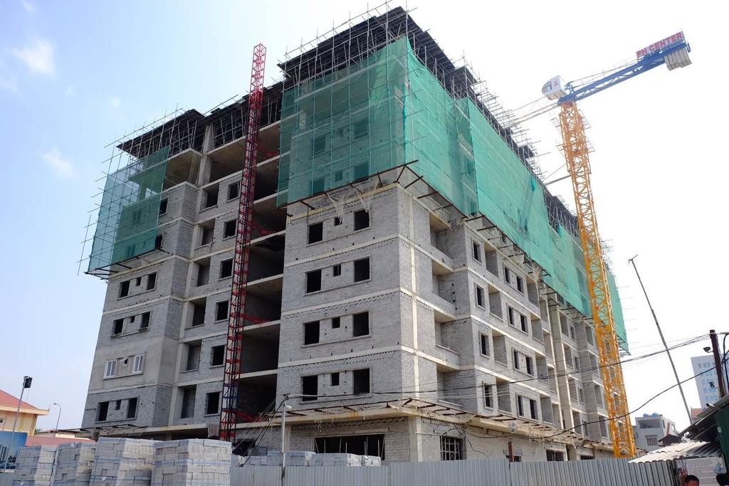 Các dự án căn hộ vẫn chiếm chủ yếu trong giao dịch BĐS quý I/2018. Ảnh VGP