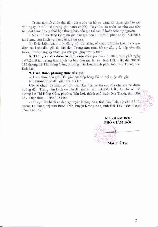 Đấu giá quyền sử dụng đất tại huyện Krông Ana, Đắk Lắk - ảnh 2
