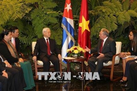 Tổng Bí thư Nguyễn Phú Trọng hội đàm với Chủ tịch Cuba Raul Castro - ảnh 2