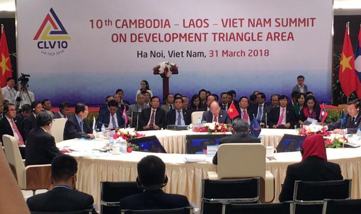 Hội nghị CLV lần thứ 10 do  hủ tướng ba nước Việt Nam, Campuchia, Lào đồng chủ trì. Ảnh: Nguyễn Hương