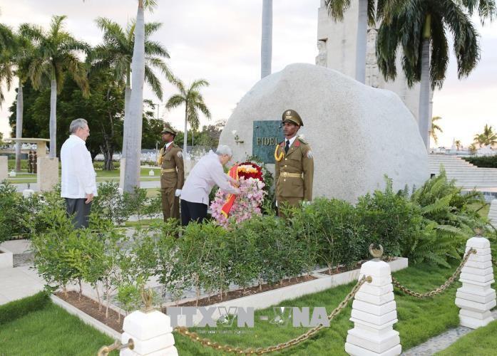 Tổng Bí thư Nguyễn Phú Trọng và Chủ tịch Cuba thăm TP. Santiago De Cuba - ảnh 1