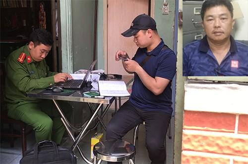 Cảnh sát khám xét đường dây do Hùng cầm đầu.