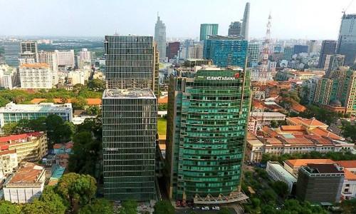 Hai trong số những toà văn phòng giá thuê hạng A trên đường Lê Duẩn (TP HCM). Ảnh Internet.