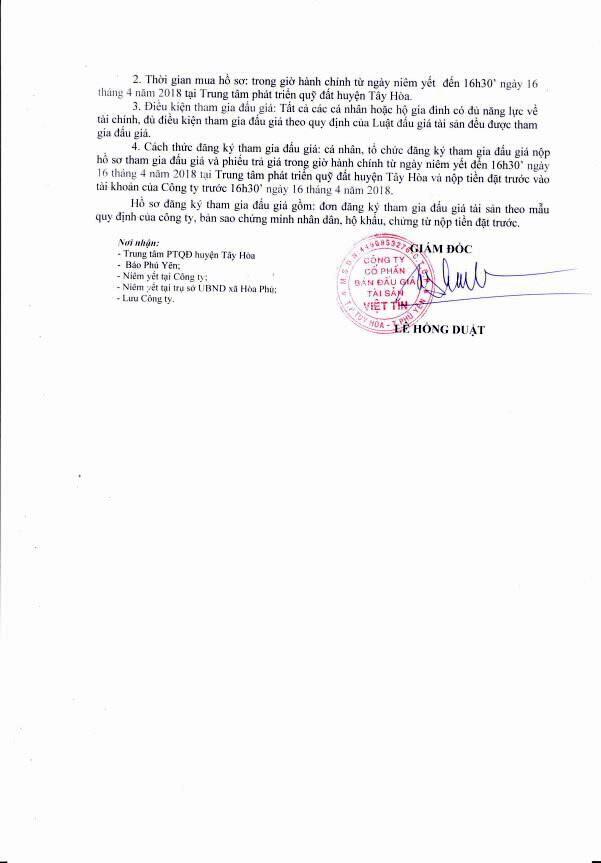 Đấu giá quyền sử dụng đất tại huyện Tây Hòa, Phú Yên - ảnh 2