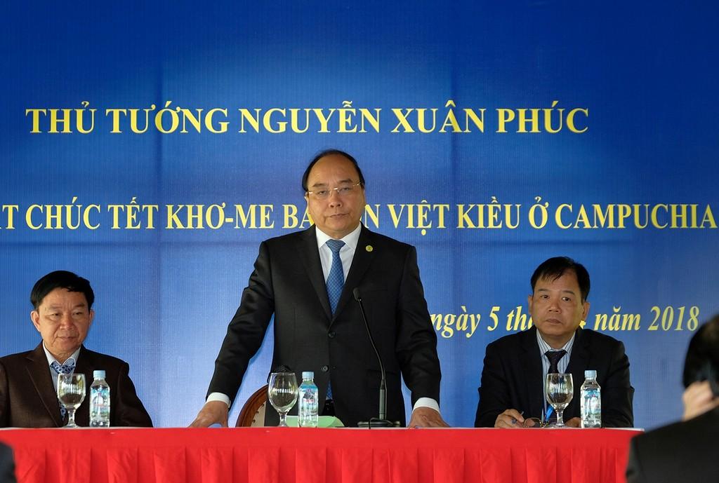 Thủ tướng Nguyễn Xuân Phúc phát biểu tại buổi gặp mặt. Ảnh: VGP