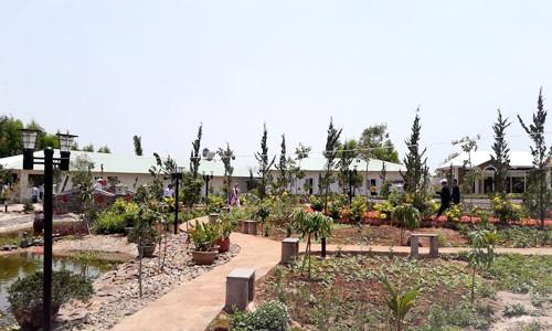 Một góc khu nghỉ dưỡng của ca sĩ Hồ Quỳnh Hương tại huyện Xuyên Mộc.
