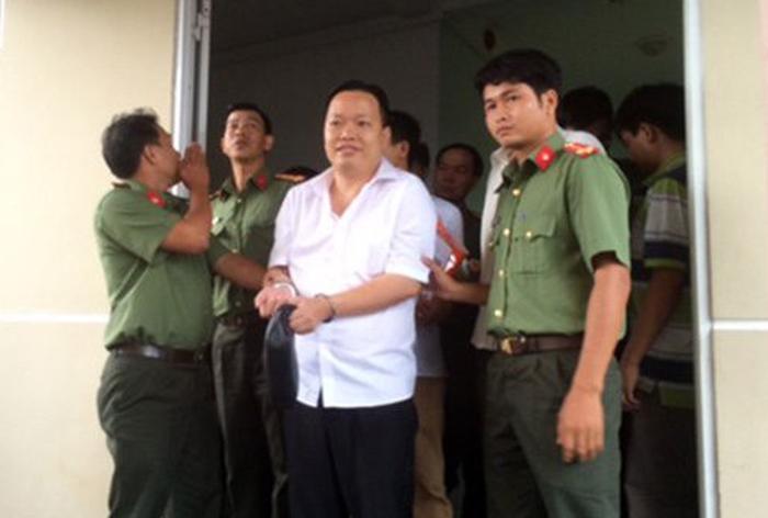 Nguyễn Huỳnh Đạt Nhân, nguyên giám đốc Công ty TNHH MTV Nông thủy sản Tây Nam lúc bị bắt - Ảnh: C.A
