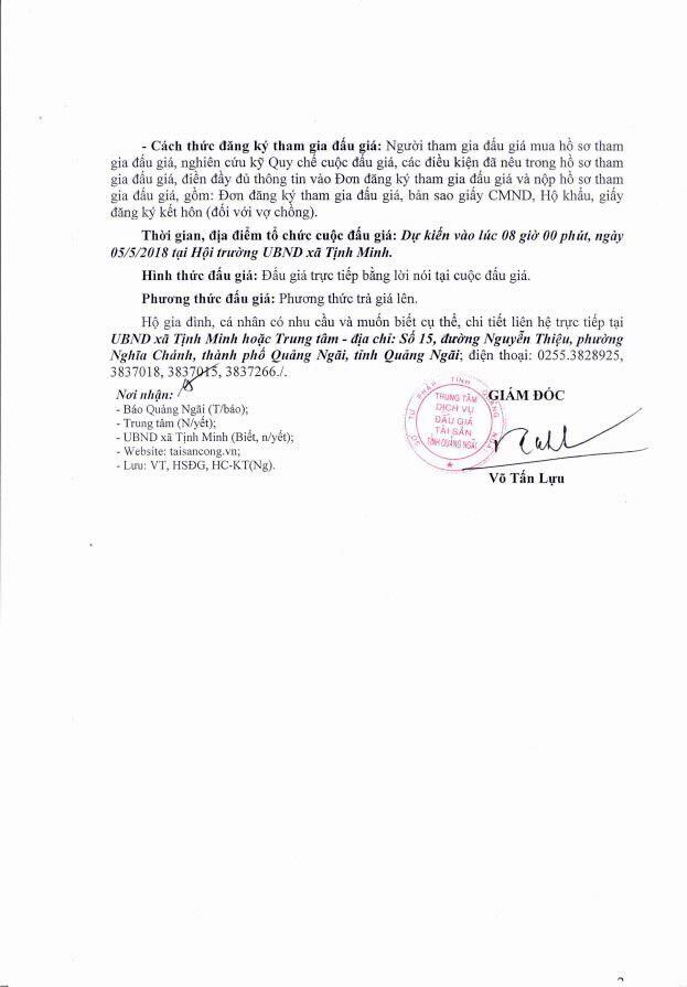 Đấu giá quyền sử dụng đất tại huyện Sơn Tịnh, Quảng Ngãi - ảnh 2