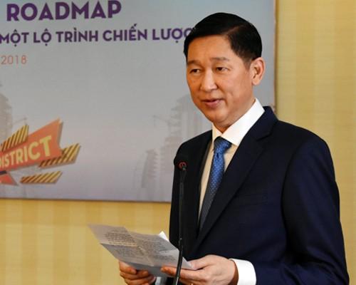 Ông Trần Vĩnh Tuyến tại buổi làm việc hôm nay.