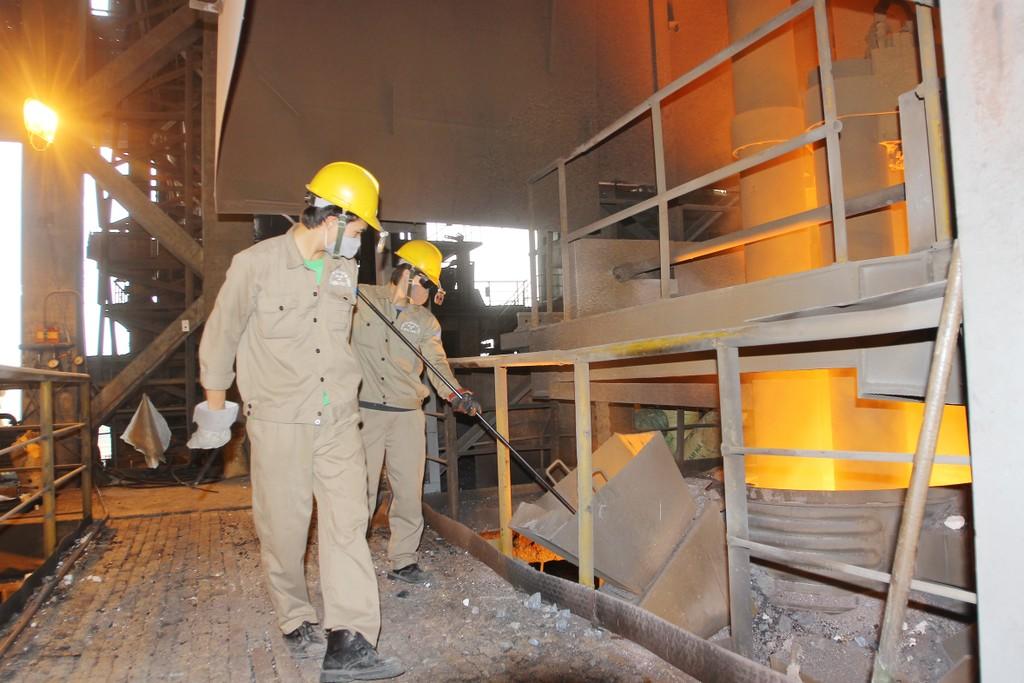 Kết thúc quý I/2018, thép xây dựng Hòa Phát đạt sản lượng 542.000 tấn. Ảnh: Tường Lâm