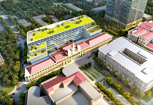 Phối cảnh trụ sở HĐND - UBND sau khi được nâng cấp. Nguồn: Sở Quy hoạch - Kiến trúc.