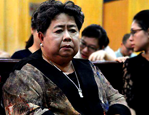 Bà Phấn trong phiên xử ông Phạm Công Danh năm 2015. Ảnh: CTV.