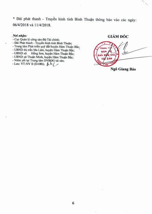 Đấu giá quyền sử dụng đất tại huyện Hàm Thuận Bắc, Bình Thuận - ảnh 6