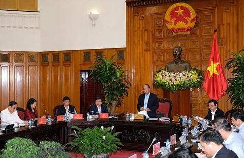 Thủ tướng Nguyễn Xuân Phúc phát biểu tại cuộc làm việc - Ảnh: VGP