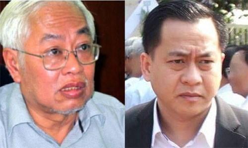 Từ trái qua: ông Trần Phuơng Bình và ông Phan Văn Anh Vũ.