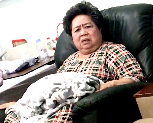 Bà Phấn điều trị tại một bệnh viện ở quận 7. Ảnh: CTV.