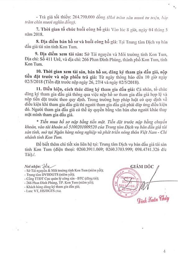 Đấu giá xe ô tô và thiết bị văn phòng tại Kon Tum - ảnh 4
