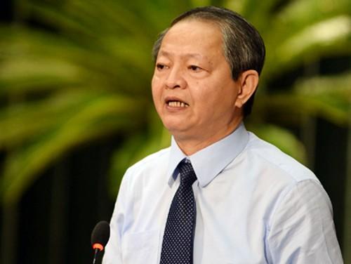 Phó chủ tịch UBND TP HCM Lê Văn Khoa.