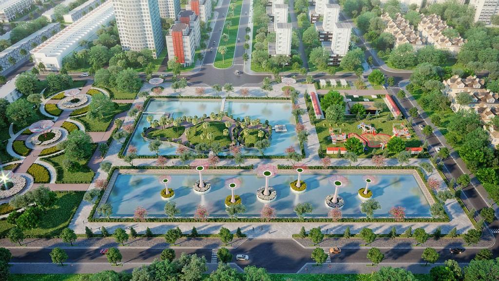 Phối cảnh dự án Khu đô thị Kiến Tường Central Mall