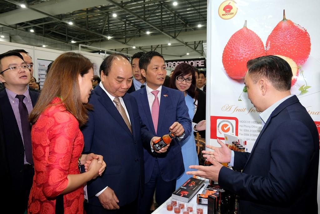 Thủ tướng thăm gian hàng Việt Nam tại Hội chợ FHA 2018 - ảnh 1