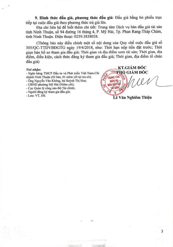Đấu giá quyền sử dụng đất, quyền sở hữu nhà và TSKGLVĐ tại TP.Phan Rang – Tháp Chàm, Ninh Thuận - ảnh 3