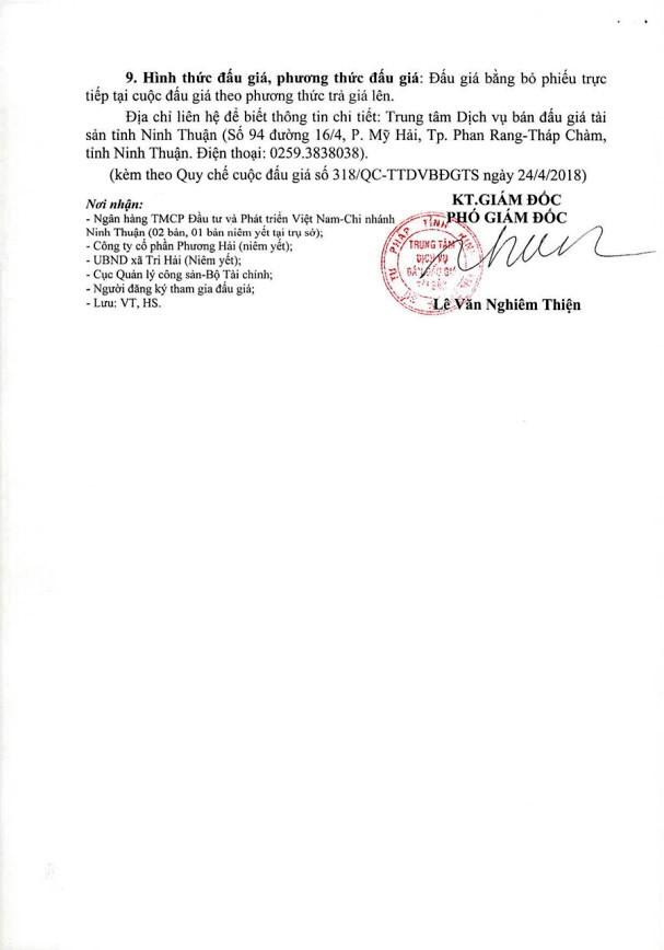 Đấu giá toàn bộ MMTB, CTXD tại Ninh Thuận - ảnh 4