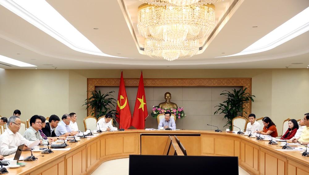 Phó Thủ tướng Phạm Bình Minh chủ trì cuộc họp. Ảnh: VGP